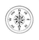 Bilde å fargelegge kompass
