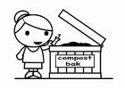 Bilde å fargelegge kompost