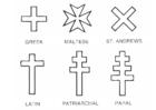 Bilde å fargelegge kors