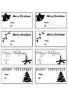 Bilde å fargelegge kort til julegaver