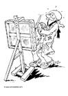 Bilde å fargelegge kunstner