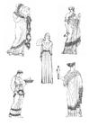 Bilde å fargelegge kvinner i antikkens Grekenland