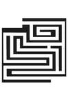 Bilde å fargelegge labyrint