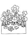 Bilde å fargelegge lærer