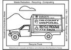 Bilde å fargelegge lastebil for resirkulering