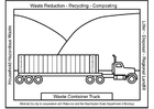 Bilde å fargelegge lastebil med container