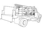 Bilde å fargelegge lastebil