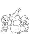 Bilde å fargelegge leker med snømann