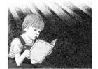 Bilde å fargelegge lese en bok