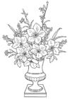Bilde å fargelegge liljer i vase