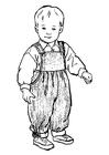 Bilde å fargelegge liten gutt