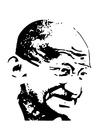 Bilde å fargelegge Mahatma Gandhi