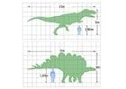 Bilde å fargelegge mÃ¥lene til en dinosaur