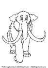 Bilde å fargelegge mammut