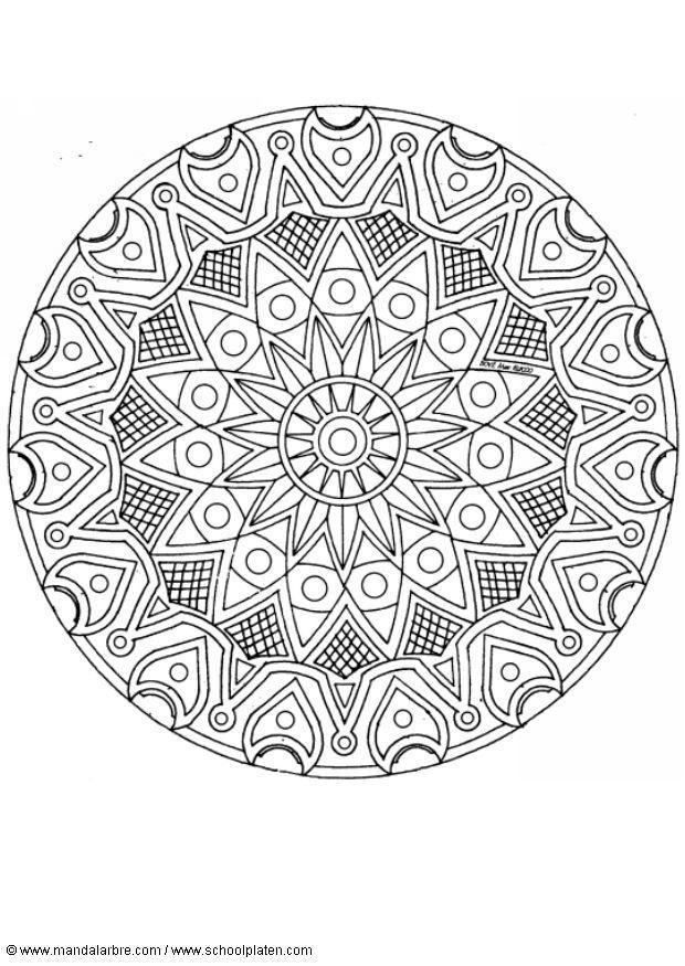 bilde å fargelegge mandala  1702d  gratis bildene for