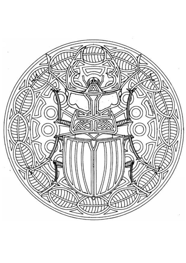 Bilde fargelegge mandala 1802a bil 4543 for Mandala da colorare con animali