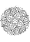 Bilde å fargelegge Mandala