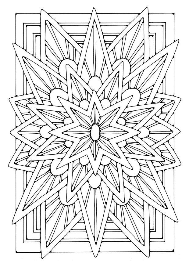 bilde  u00e5 fargelegge mandala - stjerne