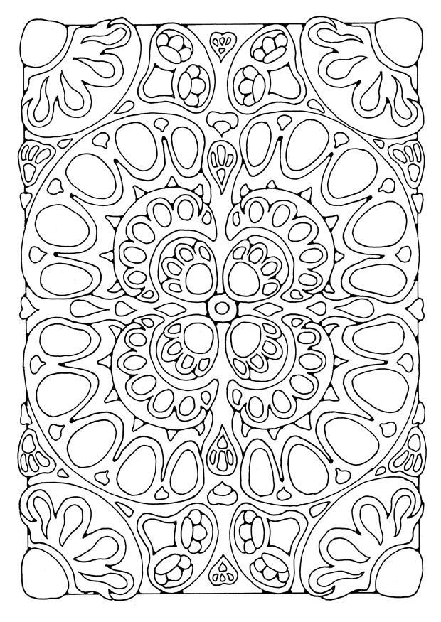 Bilde fargelegge mandala2 bil 21898 for Simple geometric designs coloring pages