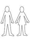 Bilde å fargelegge mann og kvinne
