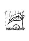 Bilde å fargelegge marihøne beskytter seg mot regnet
