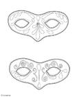 Bilde å fargelegge masker