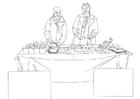 Bilde å fargelegge matvarebistand