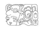 Bilde å fargelegge Maya kunst