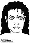 Bilde å fargelegge Michael Jackson