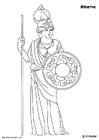 Bilde å fargelegge Minerva