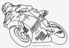 Bilde å fargelegge motorsykkel GP