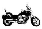 Bilde å fargelegge motorsykkel - Honda Magna
