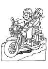 Bilde å fargelegge motorsykkel