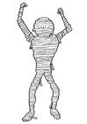 Bilde å fargelegge mumie