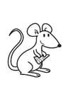Bilde å fargelegge mus med ost