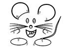 Bilde å fargelegge mus