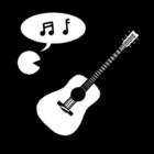 Bilde å fargelegge musikk - sang og instrument