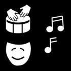 Bilde å fargelegge musikk - uttrykk