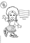 Bilde å fargelegge Natasha med russisk flagg