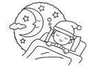 Bilde å fargelegge natt - søvn