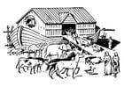 Bilde å fargelegge Noahs ark
