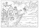 Bilde å fargelegge Noas ark