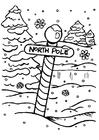 Bilde å fargelegge Nordpolen
