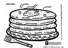 Bilde å fargelegge pannekaker