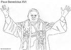 Bilde å fargelegge Pave Benedikt XVI