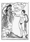 Bilde å fargelegge Pegasus og Andromeda