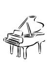 Bilde å fargelegge piano