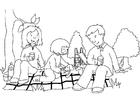 Bilde å fargelegge piknikk