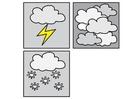 Bilde å fargelegge piktogram vær 2