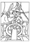 Bilde å fargelegge pirat 2